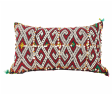 Moroccan Kilim Cushion Vintage Authentic Wool Hand Embroidered Hand Stitched 60 cm x 35 cm VC116-20